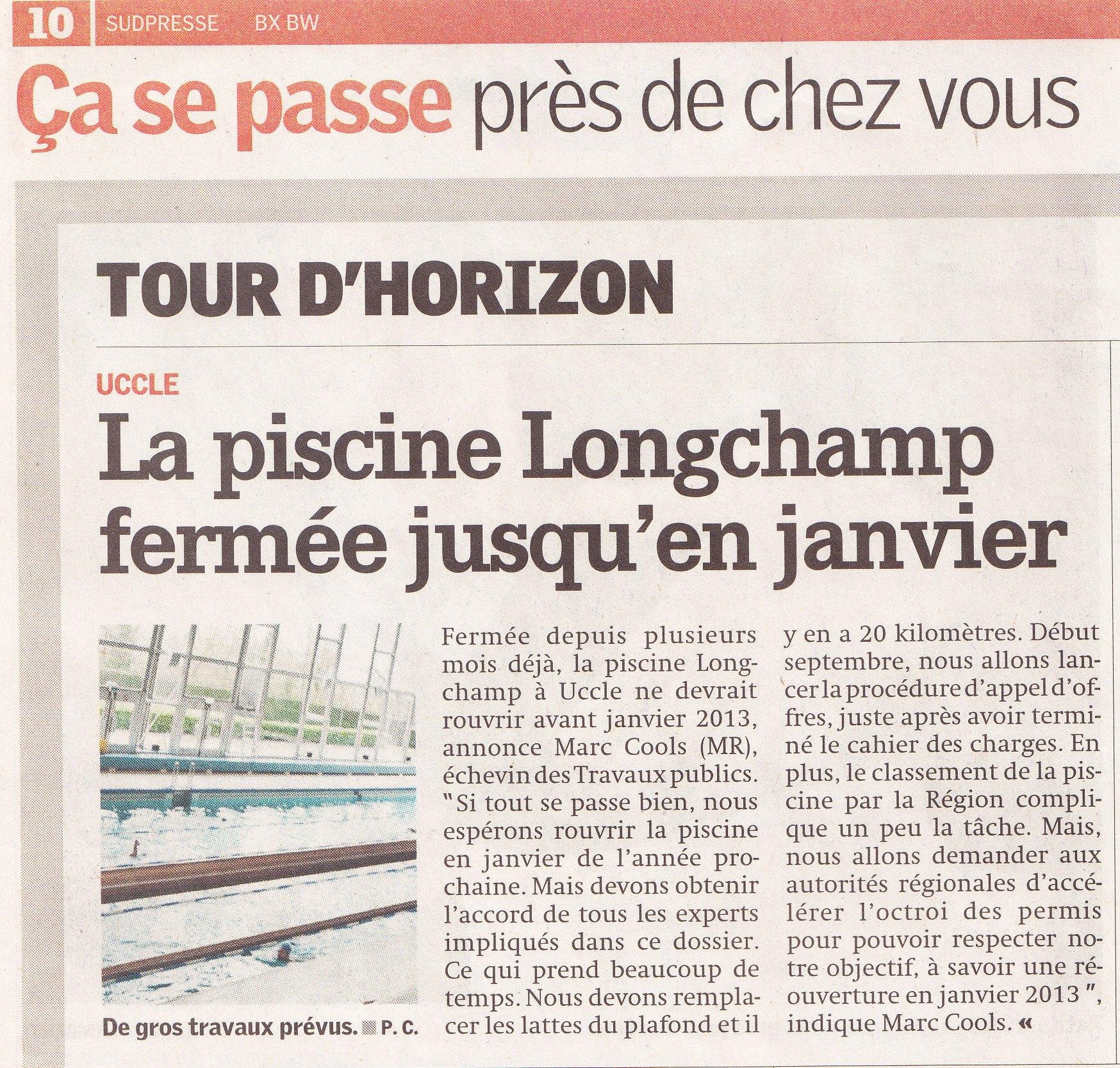 Marc cools for Piscine longchamps